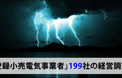 「登録小売電気事業者」199社の経営調査