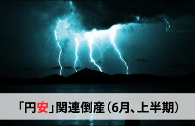 「円安」関連倒産(6月、上半期)
