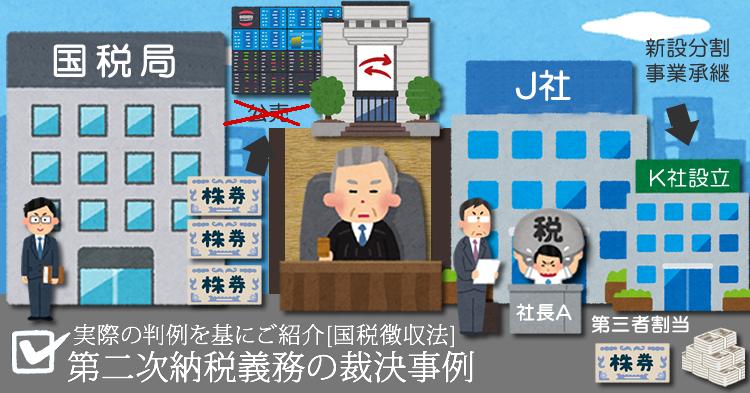 「第二次納税義務の判例まとめ」 (完)