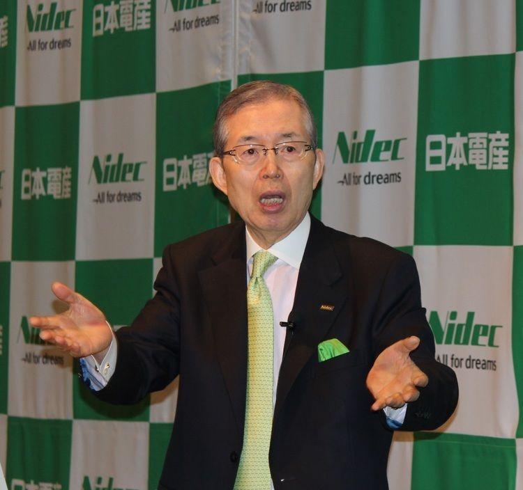 永守重信日本電産会長兼社長(2018年4月25日に東京で開催した<a class=